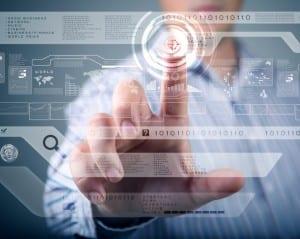 doctor using tech screen